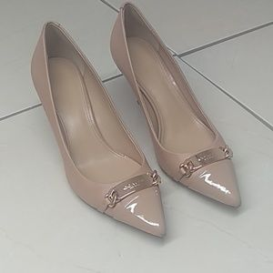 Coach Nude Pointed Toe Kitten Heels